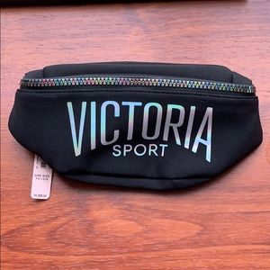 NWT Victoria Secret Black Fanny Pack